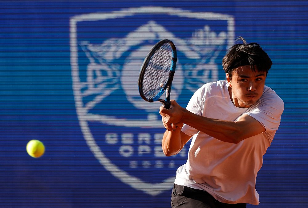 Tennis-ATP Serbia Open Belgrade 2021<br /> Taro Daniel (JPN) v Federico Delbonis (ARG)<br /> Beograd, 23.04.2021.<br /> foto: Srdjan StevanovicStarsportphoto ©