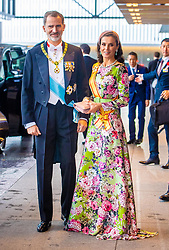 October 22, 2019, Tokyo, Japan: KING FELIPE VI and QUEEN LETIZIA of Spain attend the Accession to the Throne of His Majesty the Emperor of Japan Naruhito, at the Imperial Palace in Tokyo, Japan. (Credit Image: ©  via ZUMA Press)