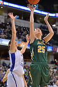 April 4, 2016; Indianapolis, Ind.; Jessica Madison puts up a shot in the NCAA Division II Women's Basketball National Championship game at Bankers Life Fieldhouse between UAA and Lubbock Christian. The Seawolves lost to the Lady Chaps 78-73.