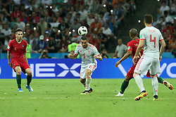 June 15, 2018 - Sochi, Russia - June 15, 2018, Russia, Sochi, FIFA World Cup, First round, Group B, First round, Portugal against Spain at Fisch Stadium. Player of the national team (Credit Image: © Russian Look via ZUMA Wire)