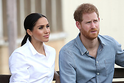 """File photo dated 17/10/2018 of the Duke and Duchess of Sussex who are moving into Frogmore Cottage on the Windsor Estate early next year """"as they prepare for the arrival of their first child"""", Kensington Palace has confirmed."""