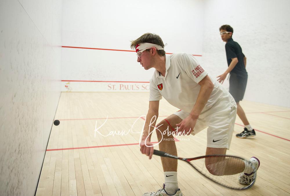 St Paul's School varsity Squash.  ©2020 Karen Bobotas Photographer