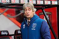 West Ham Utd manager Manuel Pellegrini before during the Premier League match between Bournemouth and West Ham United at the Vitality Stadium, Bournemouth, England on 19 January 2019.