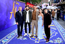 Director and cast (left to right) Guy Ritchie, Marwan Kenzari, Will Smith, Naomi Scott and Mena Massoud attending the Aladdin European Premiere held at the Odeon Luxe Leicester Square, London.