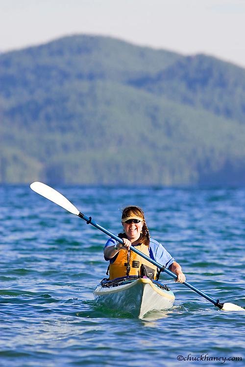 Sea kayaking on Whitefish Lake in Montana model released