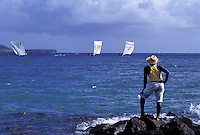 Sainte Luce - Gommier (traditional boat) race - Martinique (French Département d'outre Mer - DOM) - France<br /> French West Indie - Antilles françaises<br /> Caribbean