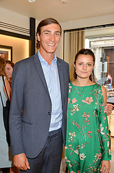 JACK RICHARDSON and AMY GATEHOUSE at the Jaeger-LeCoultre Gold Cup draw 2016 held at Jaeger-LeCoultre, Bond Street, London on 6th June 2016.