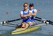 2005 FISA Team Cup, Rio Guadalquiver Rowing Course, Seville, SPAIN; GBR W2X Double Scull, Sarah Winckless [left] and Katherine Grainger,<br /> Photo,  © Peter Spurrier, intersport-images