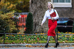 © Licensed to London News Pictures. 13/11/2018. London, UK. Chief Secretary to the Treasury Elizabeth Truss arrives on Downing Street for the Cabinet meeting. Photo credit: Rob Pinney/LNP