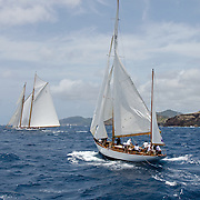 Argyll at the Antigua Race Week.<br /> <br /> In April, 2015 yachts from all over the world will arrive in Antigua to participate in the one of the world's major sailing events and the granddaddy of Caribbean regattas, Antigua Sailing Week, to be held from the 25th of April to the 1st of May, 2015. From small beginnings this regatta has developed over the past 47 years to become one of the preeminent yacht racing events in the Caribbean and one of the most prestigious in the world.<br /> Over 100 yachts participate every year ranging in size from 24 feet to over 100 feet. The Regatta attracts everything from serious racing boats including state-of-the-art, high-tech racing machines to a variety of performance cruising and cruising boats.