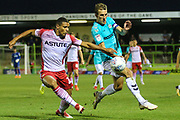 Forest Green Rovers Christian Doidge(9) controls the ball during the EFL Sky Bet League 2 match between Forest Green Rovers and Stevenage at the New Lawn, Forest Green, United Kingdom on 21 August 2018.