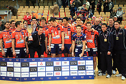 Team ACH at finals of Slovenian volleyball cup between OK ACH Volley and OK Salonit Anhovo Kanal, on December 27, 2008, in Nova Gorica, Slovenia. ACH Volley won 3:2.(Photo by Vid Ponikvar / SportIda).