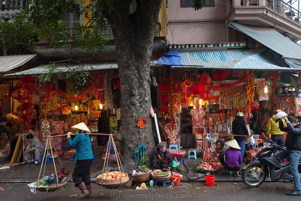 Old quarter of Hanoi, Vietnam.