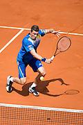 Paris, France. Roland Garros. May 27th 2013.<br /> German player Daniel BRANDS against Rafael NADAL