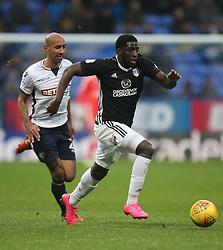 Aboubakar Kamara of Fulham (R) and Karl Henry of Bolton Wanderers in action - Mandatory by-line: Jack Phillips/JMP - 10/02/2018 - FOOTBALL - Macron Stadium - Bolton, England - Bolton Wanderers v Fulham - English Football League Championship