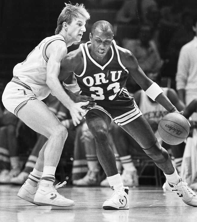 ©1986  University of Texas at Austin men's basketball in Southwest Conference action at the Erwin Center.