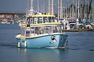 Water taxi in the Channel Islands Harbor, Oxnard, Ventura County, California