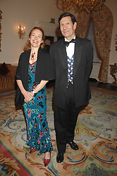 ROBERT & SILVIA OGDEN at a pub style quiz night in aid of Rapt at Willaim Kent House, The Ritz, London on 25th June 2006.  The questions were composed by Judith Keppel and the winning team won £1000 to donate to a charity of their choice.<br />