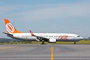 Belo Horizonte_MG, Brasil.<br /> <br /> Aviao da Gol Linhas aereas no Aeroporto Internacional Tancredo Neves (Aeroporto de Confins).<br /> <br /> Gol airlines flight at the Tancredo Neves International Airport (Confins Airport).<br /> <br /> Foto: RODRIGO LIMA / NITRO