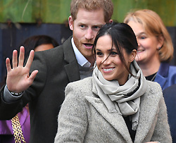 Prince Harry and Meghan Markle visit youth-orientated radio station, Reprezent FM, in Brixton, London to learn about its work supporting young people. Picture Credit Should Read: Doug Peters/EMPICS Entertainment.