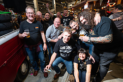 Gasoline Road Bar always felt like a party at Motor Bike Expo (MBE) bike show. Verona, Italy. Saturday, January 18, 2020. Photography ©2020 Michael Lichter.