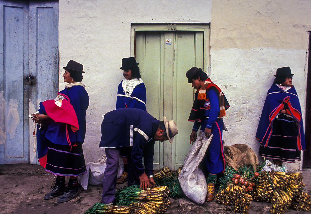 Guambiano Indians on market day, Silvia, Cauca