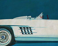 This painting of a detail of the Mercedes 300SL Daytona Roadster is exeptional because it is about a concept that Mercedes made late in the fifties of last century. The car has no doors but is based on the legendary Mercedes 300 SL Gullwing known for its upward turning doors. –<br /> <br /> <br /> BUY THIS PRINT AT<br /> <br /> FINE ART AMERICA<br /> ENGLISH<br /> https://janke.pixels.com/featured/1-mercedes-300sl-daytona-concept-roadster-jan-keteleer.html<br /> <br /> WADM / OH MY PRINTS<br /> DUTCH / FRENCH / GERMAN<br /> https://www.werkaandemuur.nl/nl/shopwerk/Mercedes-300SL-Daytona-concept-roadster/528880/132
