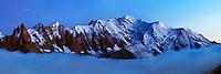 Mountain impression Aiguilles de Chamonix, Mont Blanc - Europe, France, Haute Savoie, Aiguilles Rouges, Chamonix, Lac Blanc - Dusk - September 2008