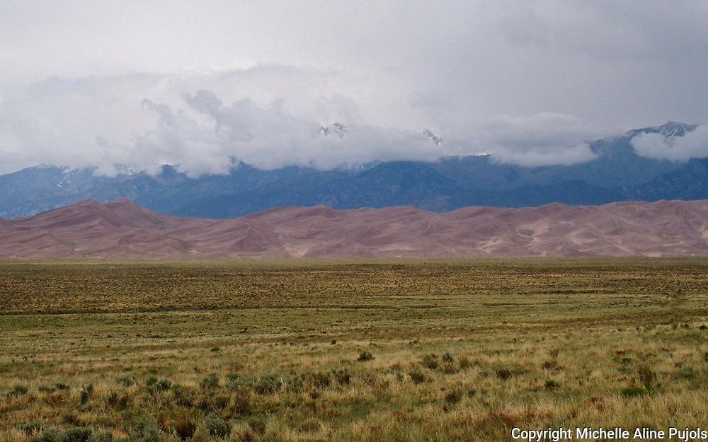 Diverse landscape of the Great Sand Dunes in Colorado.