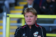 Scunthorpe United Manager Stuart McCall during the EFL Sky Bet League 1 match between Burton Albion and Scunthorpe United at the Pirelli Stadium, Burton upon Trent, England on 29 September 2018.