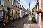 Uitzicht op de Nieuwe Kerk in Delft. | View of the Nieuwe Kerk (New Church) in Delft.
