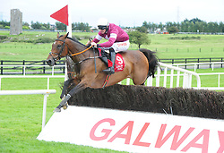 Sub Lieutenant ridden by Davy Russell win the SCL Sales Steeplechase during day seven of the Galway Summer Festival at Galway Racecourse.