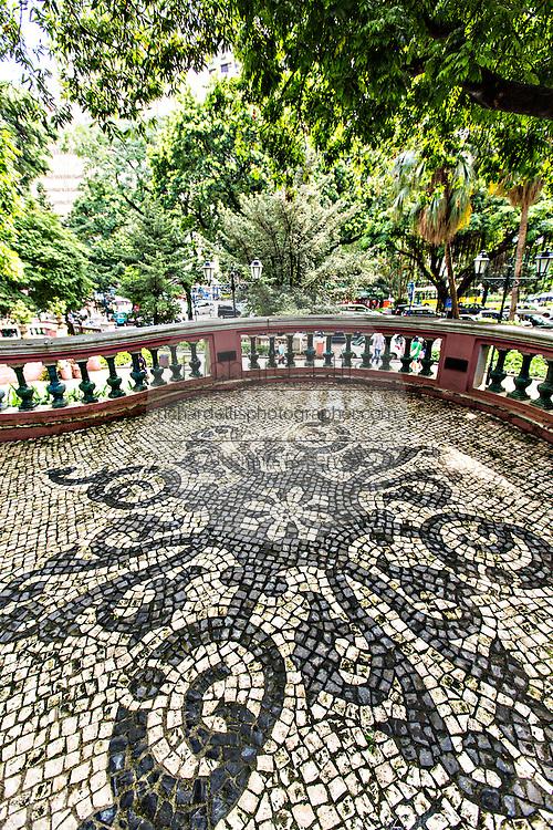 Portuguese pavement in the Jardim do Sao Francisco or Sao Francisco Garden in Macau.