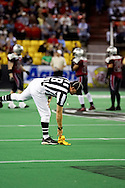 4/12/2007 - The first play in the first professional football game in Alaska brings the first penalty flag.