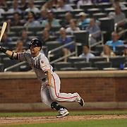 Nori Aoki, San Francisco Giants, batting during the New York Mets Vs San Francisco Giants MLB regular season baseball game at Citi Field, Queens, New York. USA. 11th June 2015. Photo Tim Clayton