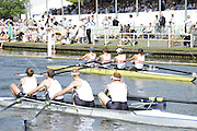 Henley, Great Britain. Heat of the Prince Albert Challenge Cup. Berks Yale University ,losing their heat to Durham University  at  2009 Henley Royal Regatta.  Wednesday 01/07/2009 [Mandatory Credit. Peter Spurrier/Intersport Images] . HRR.