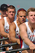 26/08/2003 NOR M4X Olaf TUFTE No.3. Tuesday.2003 World Rowing Championships, Milan, Italy.. Milan. ITALY 2003 World Rowing Championships. Idro Scala Rowing Course. [Mandatory Credit: Peter Spurrier: Intersport Images.]