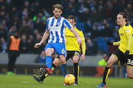 Brighton & Hove Albion central midfielder Dale Stephens during the EFL Sky Bet Championship match between Brighton and Hove Albion and Burton Albion at the American Express Community Stadium, Brighton and Hove, England on 11 February 2017. Photo by Bennett Dean.