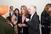 SUSIE ALLEN-HUXLEY; TRACEY EMIN; ANTHONY FAWCETT, Richard Wilson Vertu Global Art Commission. Saatchi Gallery. Duke of York's HQ. London. 13 April 2011. -DO NOT ARCHIVE-© Copyright Photograph by Dafydd Jones. 248 Clapham Rd. London SW9 0PZ. Tel 0207 820 0771. www.dafjones.com.