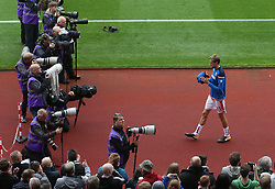 19 August 2017  : Premier League Football : Stoke City v Arsenal:  none of the photographers are interested in taking pictures of Stoke substitute Peter Crouch: Photo: Mark Leech
