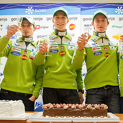 20140113: SLO, Nordic Ski - Press conference of Ski jumping team of Slovenia