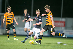 Falkirk's Craig Sibbald and Alloa Athletic's Dougie Hill. <br /> Falkirk 5 v 0 Alloa Athletic, Scottish Championship game played at The Falkirk Stadium.