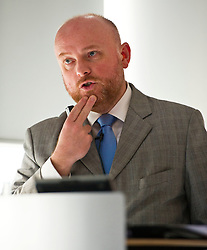 Pictured: Alastair Ross FCIPR (assistant Director, Head of Public Policy Association of British Insurers)<br /> <br /> Conference to examine impact of Brexit on Scottish businesses and public services. The event, organised by the Fraser of Allander Institute and Strathclyde Business School, heard from a numbers of speakers including Mark Taylor (Audit Scotland), John Edward (former head of Office in Scotland, the European Parliament, Professor Russel Griggs OBE, (Chair Scottish Government Independent Advisory Regulatory Review Griup), Jenny Stewart (head of Infrastructure and Government KPMG), Lynda Towers (Director of public law Morton Fraser), Katerina Lisenkova (Head of economic modelling, Fraser of Allander Institute), Ian Wooton (Professor of Economics and Vice Dean (research) Strathclyde Business School), Alastair Ross FCIPR (assistant Director, Head of Public Policy Association of British Insurers) and  Scottish Brexit Minister Mike Russell<br /> <br /> Ger Harley   EEm 2 March 2017