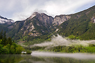 Hope Mountain and Silver Lake after a storm at Silver Lake Provincial Park near Hope, British Columbia, Canada