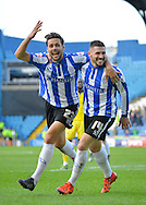 Sheffield Wednesday Forward Gary Hooper opens the scoring during the Sky Bet Championship match between Sheffield Wednesday and Leeds United at Hillsborough, Sheffield, England on 16 January 2016. Photo by Adam Rivers.