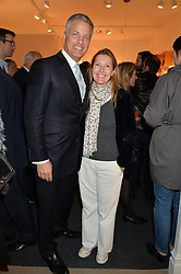 SOPHIE CONRAN and her husband NICHOLAS HOFGREN at the PAD London 2015 VIP evening held in the PAD Pavilion, Berkeley Square, London on 12th October 2015.