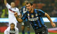 Fotball<br /> Italia<br /> Foto: Insidefoto/Digitalsport<br /> NORWAY ONLY<br /> <br /> L'esultanza di Dejan Stankovic (Inter) per il gol dell' 1-0<br /> Inter player Dejan Sankovic celebrates his 1-0 leading goal<br /> <br /> Inter v Bologna<br /> 15.01.2011