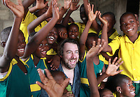 Jonathan Ross visits the Comic Relief funded Queensland School in the Agbogbloshie slum in Accra, Ghana. Jonathan Ross is in Ghana with Comic Relief to mark the 25th anniversary of Red Nose Day. Thirteen Red Nose Days later it has raised over £600million and over the last 25 years that money will have helped 50 million people across Africa, the world's poorest countries and here in the UK. Keep up the good work. rednoseday.com ©Christian Thompson