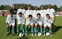 Fotball<br /> Saudi-Arabia / Saudi Arabia<br /> Foto: imago/Digitalsport<br /> NORWAY ONLY<br /> <br /> 08.09.2005  <br /> <br /> Mannschaftsbild Saudi Arabien, hi.v.li.: Torwart Mabrouk Zaid, Saud Khariri, Mohammed Haidar, Zaid Al Mowalad, Naif Ali A Alqadi und Redha Fallatha; Vorn: Ahmed Al Bahri, Khaled Al Thaker, Saad Al Harthi, Yaser Al Kahtani und Mohammad Al Shlhoub