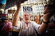 Demonstration of indignants the Pope's visit